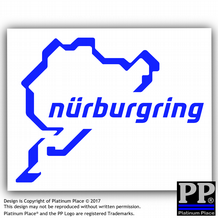 1 x Nurburgring Sticker-Car,Van,Window Sign-Race Racing Track-112mmx87mm-Longest,Famous